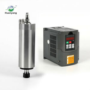 Top Hy 2 2kw Water Cooled Motor Spindle Drive Inverter Vfd 80mm Diameter Cnc