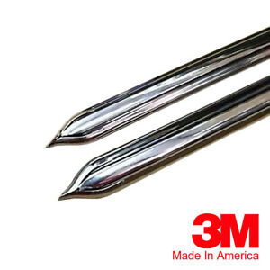 Vintage Style 5 8 Chrome Side Body Trim Molding Formed Pointed Ends