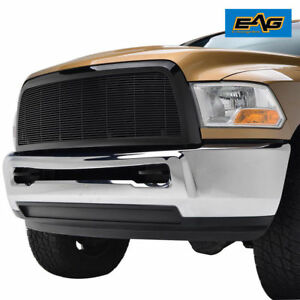 10 12 Dodge Ram 2500 3500 Black Replacement Aluminum Billet Grille W Abs Shell