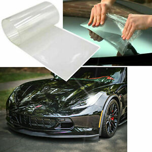 12 X48 Clear Bra Headlight Bumper Hood Paint Protection Film Transparent Vinyl