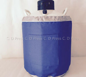 New 30l Liquid Nitrogen Tank Cryogenic Container Ln2 Dewar 6pcs Pails lock Cover