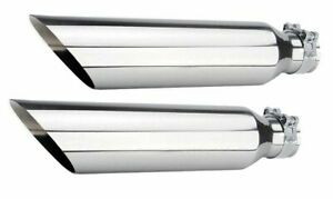 Universal Dual Truck T304 Stainless Steel Exhaust Tips