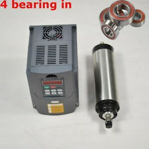 Four Bearing 1 5kw Water Cooled Spindle Motor Er16 1500w Vfd Drive Inverter