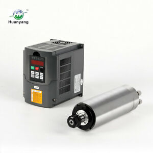 Hy 80mm Er20 2 2kw Water Cooled Motor Spindle And Drive Inverter Vfd For Cnc Hy