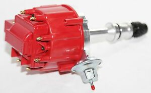 Hei Distributor Red Cap For 68 76 Oldsmobile Rocket V8 455 Engine W Vacuum