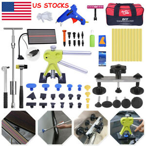 72 Pdr Dent Lifter Led Line Board Paintless Repair Slide Hammer Puller Tool Bag