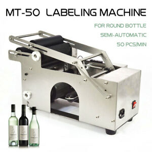 Semi automatic Labeler Machine Mt 50 Round Bottle Labeling Machine Top Quality