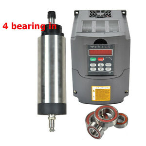Ce Quality 2 2kw Air Cooled Spindle Motor Er20 Four Bearing Inverter Drive Vfd