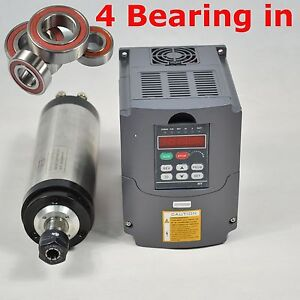 3kw Water cooled Spindle Motor 3kw Inverter Drive Vfd Four Bearing 24000rpm
