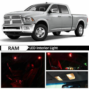 12x Red Interior Led Lights Package Kit For 2009 2014 Dodge Ram 1500