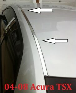 For 2004 2008 Acura Tsx Chrome Roof Top Trim Molding Kit