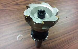 4 90 Degree Indexable Face Shell Mill face Milling Cutter Apkt W Cat40 Arbor
