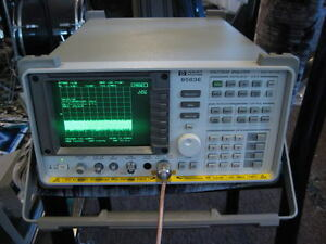 Hp Agilent 8563e Spectrum Analyzer 9 Khz 50 Ghz If W Mixers Calibration Cert