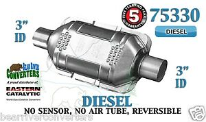 75330 Eastern Universal Catalytic Converter Diesel Catalyst 3 Pipe 10 Body