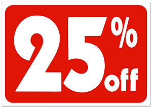 Sale 25 Off Sign Business Retail Store Shopping Message Sign Durable Plastic