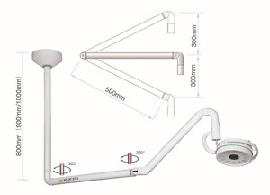New 36w Ceiling Mount Led Surgical Medical Exam Light Dental Shadowless Lamp Ce