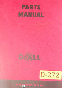 Doall C 12 Power Saw Parts List And Drawings Manual 1968