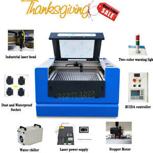 Reci 100w Co2 Laser Cutting Engraving Machine Cw 5000 Rotary Motorized