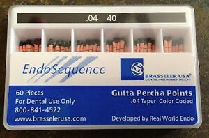 1 New Pack Of Brasseler Endosequence Gutta Percha Points Size 40 Taper 04