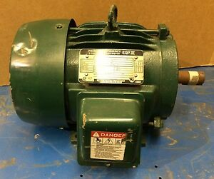 Toshiba 3 Phase Induction Motor Eqp Iii 5 Hp 230 460v 3500 Rpm 184t Frame
