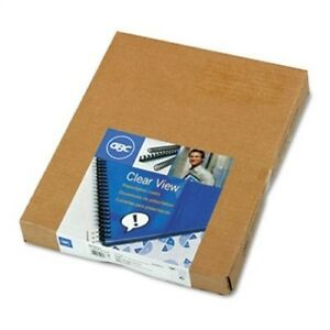 Clear View Presentation Binding System Cover 11 X 8 1 2 Clear 100 box