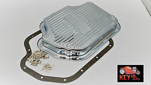 Turbo 400 Th400 Chrome Transmission Pan With Gasket Bolts Stock Capacity