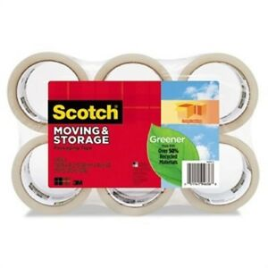 Moving Storage Tape 1 88 X 42 2yds Clear 6 pack