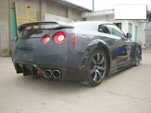 2009 2016 R35 Gtr Bse Style Carbon Fiber Side Skirts Wide Body Fender Flares