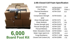 Diy Spray Foam Insulation Closed Cell 2 Lb 6000 Board Foot Kit