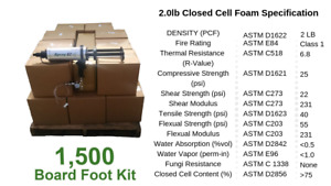 D I Y Spray Foam Insulation Closed Cell 2 Lb 1500 Board Foot Kit