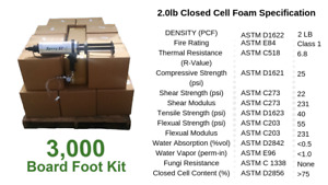 Diy Spray Foam Insulation Closed Cell 2 Lb 3000 Board Foot Kit