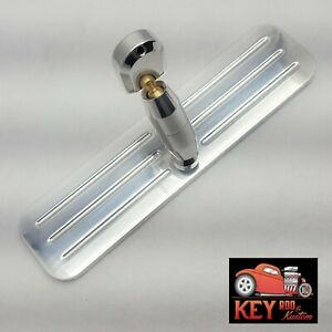 Polished Billet Aluminum Rear View Mirror Ball Milled Chevy Ford Interior 9 1 4