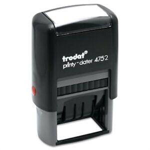 Trodat Economy Stamp Dater Self inking 1 5 8 X 1 Blue red 2 Pack