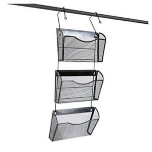 Mesh Three pack Wall Files With Hanger Letter Black 2 Pack