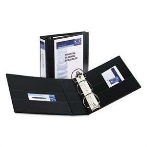 Durable View Binder With Two Booster Ezd Rings 4 Capacity Black 2 Pack