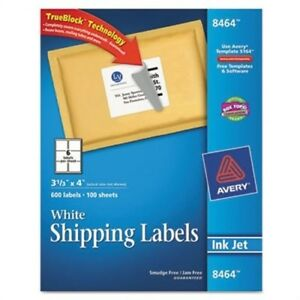 Shipping Labels With Trueblock Technology 3 1 3 X 4 White 600 box 2 Pack