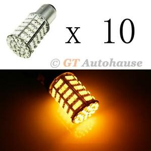 10x Amber High Power 127 smd 1157 2357 12499 12594 Led Turn Signal Lights a29 10