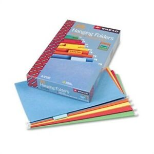 Hanging File Folders 1 5 Tab 11 Point Stock Legal Assorted Colors 25 box X2