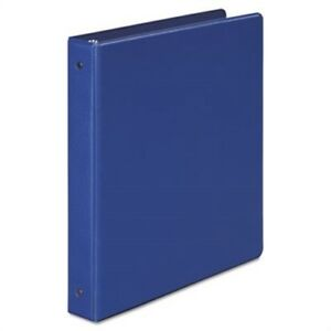 Basic Vinyl Round Ring Binder 1 Capacity Dark Blue X 2