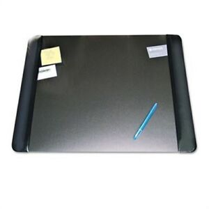 Executive Desk Pad With Leather like Side Panels 24 X 19 Black X 2