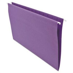 Hanging File Folders 1 5 Tab 11 Point Stock Legal Violet 25 box 2 Pack