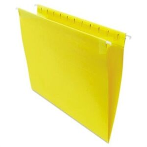 Hanging File Folders 1 5 Tab 11 Point Stock Letter Yellow 25 box 2 Pack