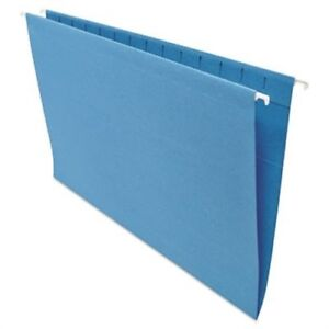 Hanging File Folders 1 5 Tab 11 Point Stock Legal Blue 25 box 2 Pack