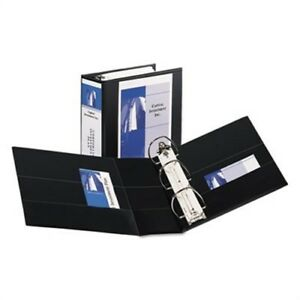 Durable View Binder With Two Booster Ezd Rings 5 Capacity Black 2 Pack