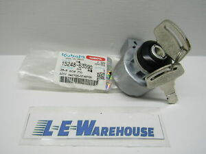 1 New Genuine Kubota Ignition Key Switch W Keys Part 15248 63590