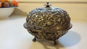 Je Caldwell Sterling Silver Coverd Butter Dish