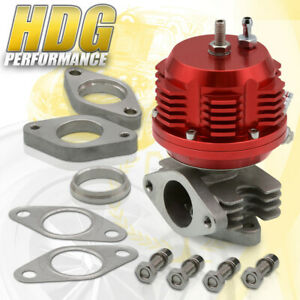 Universal Super Ribbed Aluminum Adjustable 38mm External Turbo Wastegate Red