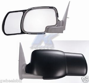 2000 2006 Gmc Sierra Yukon Clip Snap on Towing Side Mirror Extension pair