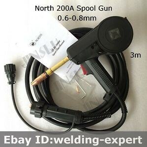 Qlbf 200iii North 24kd Mig Spool Gun Wire Feed Aluminum Welder Torch 3m