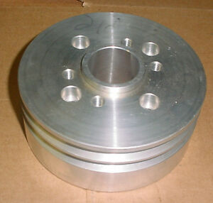 Blower Supercharger Accessory Drive 2 Vee V pulley Hub Ford 289 302 Street Rod
